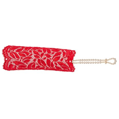 Sensation röd spetshandske från Bracli