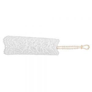 Sensation vit spetshandske med pärlor